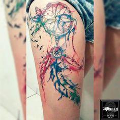 Tattoo filtro dos sonhos em Aquarela #Aquarela #WaterColor #JhordanInkTattoo