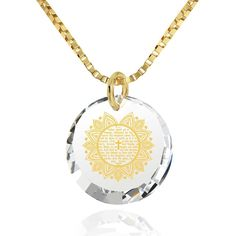 """Designer Aiyza Jewelery- """"The Lord's Prayer"""" KJ Version, 14k Gold Necklace, Cubic Zirconia by Nano Jewelry- Women - Jewelry - Necklaces LINK- https://aiyza.com/collections/the-lords-prayer-kj-version-14k-gold-necklace-cubic-zirconia   The Lord's Prayer inscribed exclusively in 24k pure gold Cubic Zirconia stone (17mm x 12mm including the bail) 14k Yellow Gold bail Gold Filled Italian Box chain, 18"""" (45cm) - Standard Size for Women Gladden her heart with the Lord's Prayer on this women's gold…"""