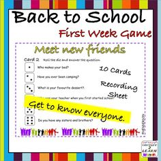 This is a great way for students to get to know each other at the beginning of…