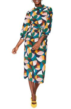 Boden Lottie Print Midi Dress (Regular & Petite) | Nordstrom