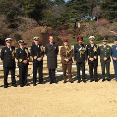 The Duke of Cambridge and the Defence Attaches of the UK, Australia, New Zealand, Canada and India, all of whom have soldiers buried at the Hodogaya Commonwealth War Graves Cemetery in Yokohama, Japan. The Duke laid a wreath as the last post was sounded. He was also accompanied by The Representatives of the USA, the Japanese Government and the Japanese Self-Defence Force. The cemetery is a beautifully tended spot replete with the ubiquitous Cross of Remembrance.