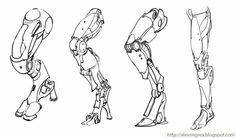 Robot Concept Art, Armor Concept, Body Drawing, Anatomy Drawing, Art Reference Poses, Drawing Reference, Character Design References, Character Art, Robot Leg