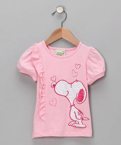 Take a look at this Light Pink Heart Ruffle Tee - Infant & Toddler by Vintage Snoopy on #zulily today!