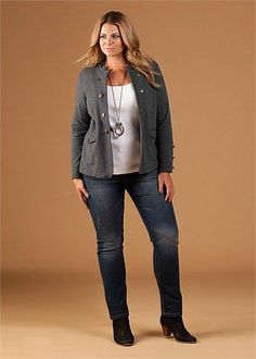 Fashionista: Plus Size Jeans and Jacket