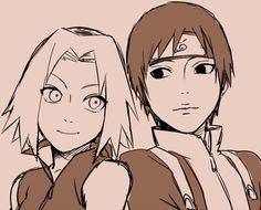 Sai and Sakura (Naruto) I really enjoy this piece. Very simple with a touch of moe :D Sai Naruto, Naruto Shippuden, Kakashi, Anime Naruto, Hinata, Naruto E Sakura, Naruto Run, Naruto Fan Art, Shikamaru