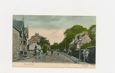 very old postcard of the Main Road, Fairlie, Scotland, 1909 by mudintheUSA on Etsy
