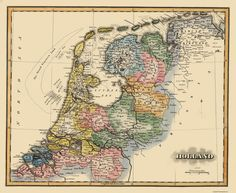 Old Netherland Map - Holland Lucas 1823