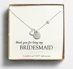 Heart Necklace for your Bridesmaids #BridesmaidNecklace