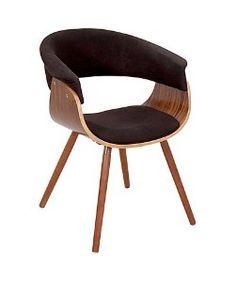 LumiSourceVintage Mod Chair Walnut + Cream