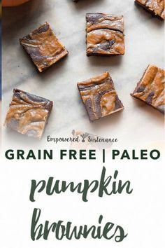 It's time for pumpkin ALL the things, so of course you need to make Paleo Pumpkin Brownies. It's the marriage of fall and really fudgy brownies. Paleo recipes are gluten-free, grain-free, refined sugar free, and dairy free to reduce inflammation and improve wellbeing. #paleodessert #healthy #glutenfree #paleodiet #paleorecipe #dairyfree #nutfree. Paleo Dessert, Healthy Dessert Recipes, Gluten Free Desserts, Baby Food Recipes, Paleo Recipes, Pumpkin Brownies, Paleo Brownies, Grain Free, Dairy Free