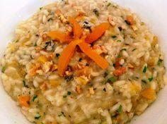 risoto de damasco com gorgonzola