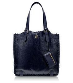 Patent Shearling Channing Tall Tote | Hukkster