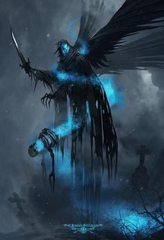 Cemetery demon by Ramses Melendez on ArtStation. Dark Creatures, Fantasy Creatures, Mythical Creatures, Fantasy Monster, Monster Art, Dark Fantasy Art, Fantasy Artwork, Fantasy Character Design, Character Art