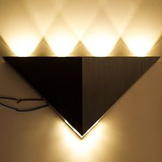 Lightess 5W Led Wall Sconce Lights Triangle Shape Decorative Lamp For Bathroom Vanity Lighting * Be sure to check out this awesome product. (Note:Amazon affiliate link)