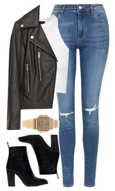 """"""""""" by welove1 ❤ liked on Polyvore featuring Topshop, Zara and Casio"""