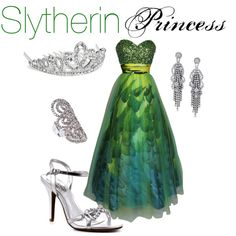 Slytherin Princess, created by nearlysamantha on Polyvore