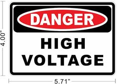 Danger High Voltage Electric Warning Safety Business by nyeplus, $5.99