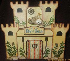 Graphic 45 By The Sea  mini album sand  castle.