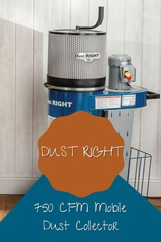 This dust collector rides on smooth-rolling casters and features a large wire basket in the base for neatly storing your hose and nozzles. Mounting holes in the frame let you hang various Dust Right® accessories. Head to our website and watch our demo on this dust collector today!  #createwithconfidence #dustright #dustcollection #mobiledustcollector #750cfm Large Wire Basket, Wire Baskets, Woodworking Shop, Woodworking Projects Diy, Woodworking Videos, Dust Collector, Workshop Organization, Garage House, Let It Be