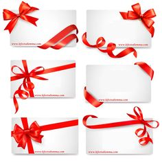 Set of card notes with red gift bows with ribbons vector image on VectorStock Gift Bows, Ribbon Bows, Adobe Illustrator, Gift Wrapping, Notes, Illustration, Cards, Gift Wrapping Paper, Report Cards