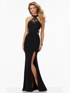 Sheath/Column Halter Sleeveless Floor-Length Jersey Dresses PromEver
