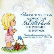 Praying God will provide.