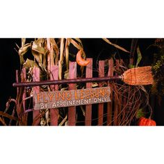 TBD Halloween Decor - Flying Lessons Witch's Broom Stick Sign - Home & Garden Halloween Witch Decorations, Flying Lessons, Witch Broom, Painted Sticks, Wall Plaques, Fall Crafts, Wooden Signs, Fall Decor, Hand Painted