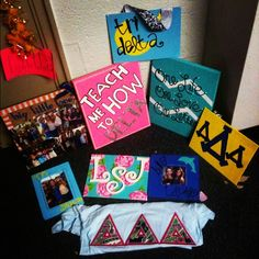 """Tri Delta - little canvas - """"one life, one love, one letter"""""""