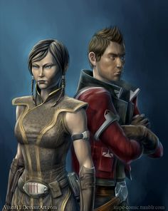 Theron and Satele Shan by Vixen11.deviantart.com on @DeviantArt