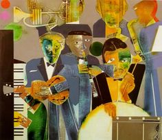 "Romare Bearden collage - ""One Night Stand"" African American Artist, American Artists, African Art, Collages, Collage Artists, Mix Media, Renaissance Kunst, Harlem Renaissance, Renaissance Artists"