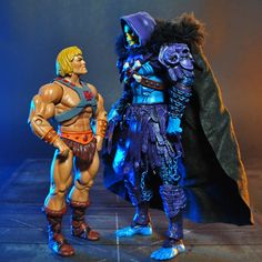 Skeletor custom action figure from the Masters of the Universe series using Kratos as the base, created by Jin Saotome. Man, 1980 Cartoons, Kung Fury, King Shark, Cult, Figure Photography, Black Panther Marvel, Universe Art, Avengers