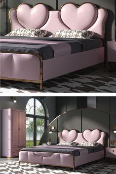 Bed Headboard Design, Bedroom Bed Design, Modern Bedroom Design, Contemporary Bedroom, Bedroom Sets, Luxury Bedroom Furniture, Bed Furniture, Cama Box, Small Bedroom Designs