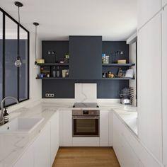 1001 impressive u shaped kitchen models Rustic Modern Kitchen, Modern Kitchen, Contemporary Kitchen, Modern Grey Kitchen, Modern Kitchen Tables, Modern Kitchen Design Grey, Kitchen Cabinet Layout, Rustic Kitchen, Kitchen Design