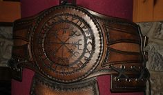 viking leather belt by Lagueuse.deviantart.com on @DeviantArt
