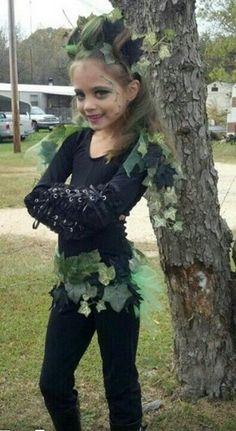 Poison Ivy Costume for Little Girl - Creative Homemade Halloween Costume Ideas  for Kids, http://hative.com/creative-homemade-halloween-costume-ideas-for-kids/,