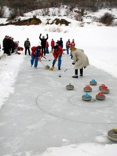 Russian Federation women's curling team at Pineview Reservoir. Add AroundTheRings on Twitter http://twitter.com/AroundTheRings & Facebook http://facebook.com/AroundTheRings for the latest in Olympic News & Events.