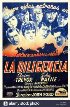 Stagecoach - Spanish Movie Poster - Directed By John Ford - United Stock Photo, Royalty Free Image: 59408661 - Alamy