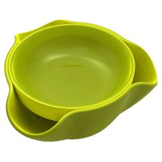 double dish...the pistachio shells or olive pits get dropped into the lower bowl. out of sight! perfect gift for the pistachio lover in my life