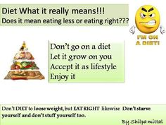 #shilpsnutrilife #eathealthy #eatright #exercise #donotstarve #weightloss #healthylifestyle