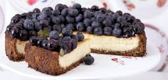 Ricotta Cheesecake with Ginger and Blueberries - Cynthia Barcomi