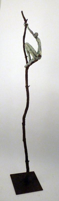 Comme un oiseau sur la branche Bronze www.sourski.com