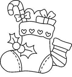 opções de bota de natal para colorir