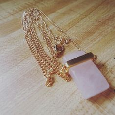 Rose quartz pendant necklace Rose quartz  pendant necklace 18k  gold plated. This is such a beautiful necklace, absolutely stunning. NWOT. Jewelry Necklaces