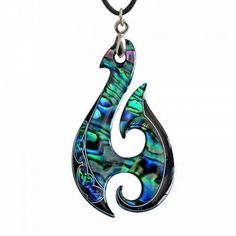 New Zealand Maori Paua Shell Pendant Jewelry in Fish Hook Hei . Maori Tattoos, Hook Tattoos, Tattoo L, Wooden Jewelry, Resin Jewelry, Pendant Jewelry, Paua Shell, Shell Pendant, New Zealand Jewellery