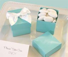 Tiffany blue favor boxes