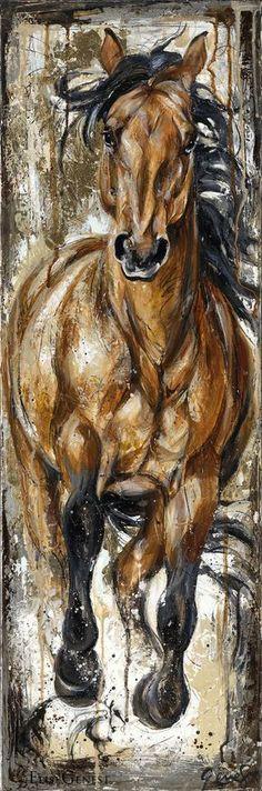 Reproductions giclées sur toile - giclée prints on canvas — Elise Genest Painted Horses, Horse Drawings, Art Drawings, Art Occidental, Horse Artwork, Animal Paintings, Horse Paintings, Pastel Paintings, Equine Art
