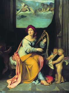 Fyodor Bruni (1801-1875)  Saint Cecilia  Oil on canvas, 1825  164x124 cm  The State Russian Museum, St. Petersburg, Russia