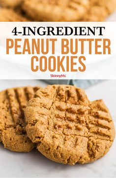 Our peanut butter cookies ditch conventional cookie ingredients like flour butter and additives that upset a cookie recipe's nutritional value. 4 Ingredient Peanut Butter Cookie Recipe, Peanut Butter Cookies, Clean Eating Recipes For Dinner, Clean Eating Meal Plan, Cookies Ingredients, 4 Ingredients, Slow Cooker Balsamic Chicken, One Skillet Meals, Fresh Fruits And Vegetables