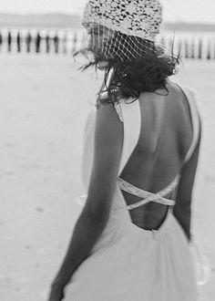 Laure de Sagazan Paris:: Robe SEGUR  Coiffe GIONO Love this crisscross back!