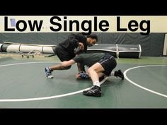 low single leg takedown: basic neutral wrestling moves and techniques for  beginners